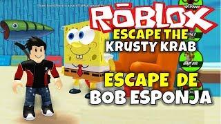 ¡ESCAPE DE BOB ESPONJA! ROBLOX: ESCAPE THE KRUSTY KRAB Video