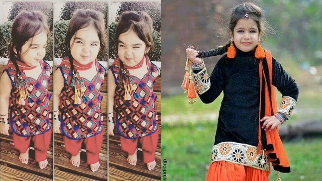 baby girls punjabi suit designs | punjabi suit for little girls