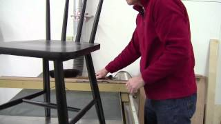 Steve Shanesy Tries Out Gary Rogowski's Trick To Level Legs On Tippy Chairs