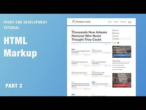 Front-end Development Tutorial - 01 | Sketch To HTML Markup