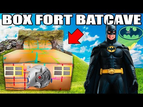 BOX FORT BATCAVE!!  Batman Adventure Nerf, Gadgets & More!