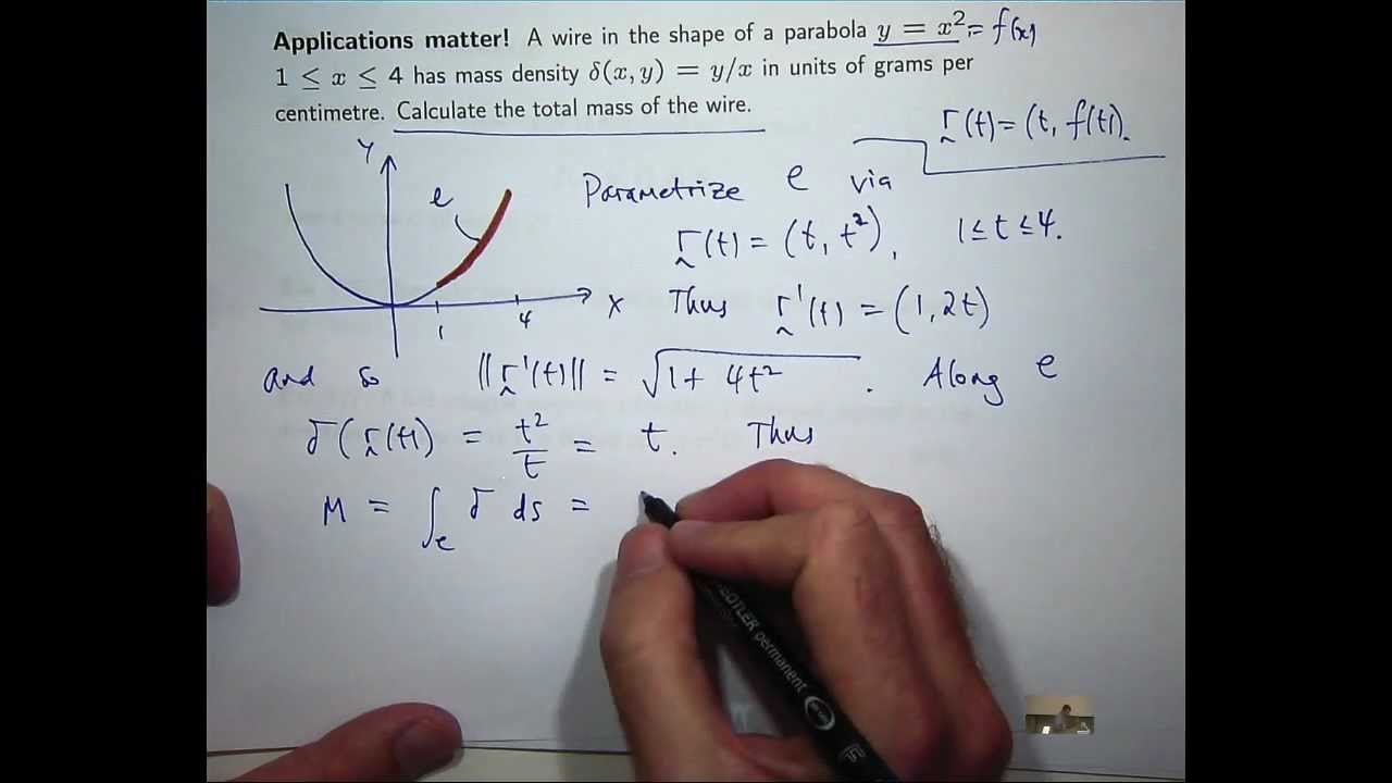How to calculate the mass of a wire - YouTube