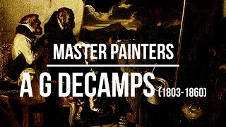 Alexandre-Gabriel Decamps (1803-1860) A collection of paintings 4K Ultra HD Silent Slideshow