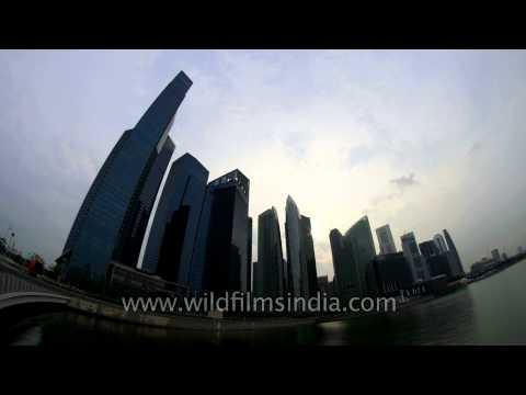 Time lapse of Skyscraper, Singapore