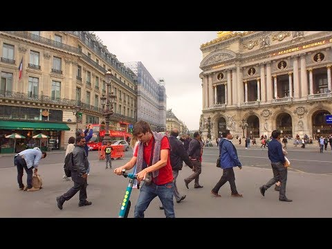 Paris Shopping District Walk: Galeries Lafayette, Palais Garnier Opera House & Madeleine Church