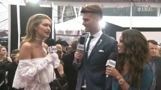 Gigi Hadid Interview on Red Carpet - AMAs 2016
