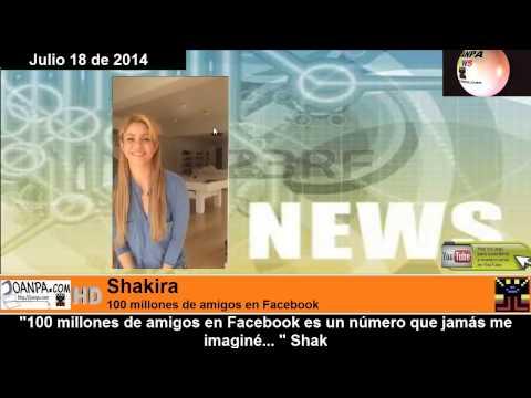 Shakira 100 millones de amigos en Facebook