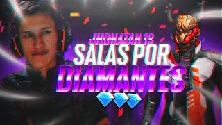 🔴FREE FIRE EN VIVO🔴SALAS  POR DIAMANTES- 4 VS 4 -GANATE EL PASE ELITE🔥