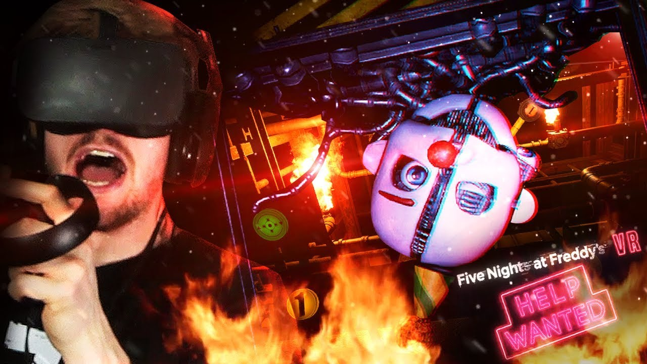 TAKING ON ENNARD IN THE BOILER ROOM  (Crazy  )    FNAF VR: Help Wanted  (Part 4)