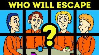 Prison Riddles: Who Will Escape? 🚔