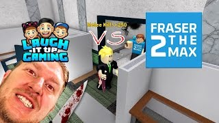 1v1 vs youtubers episode 1 featuring fraser2themax   roblox mm2   murder mystery 2
