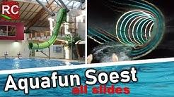 AquaFun Soest - alle Rutschen / all slides (mit FunAconda);  POVs  2018