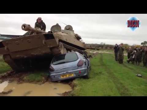 destroy-car-with-a-tank