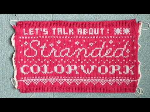 Let's talk about STRANDED COLORWORK  Knitting Q&A  PAPER TIGER