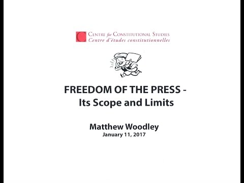Do we have a free press in Canada? Jan. 11, 2017