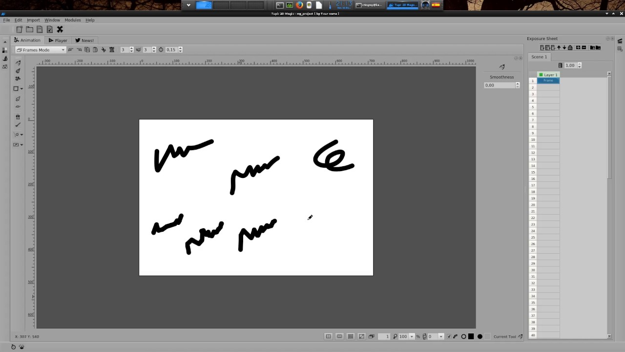 Line Art Software Free Download : Tupi tutorial] smoothness feature software for drawing cartoons