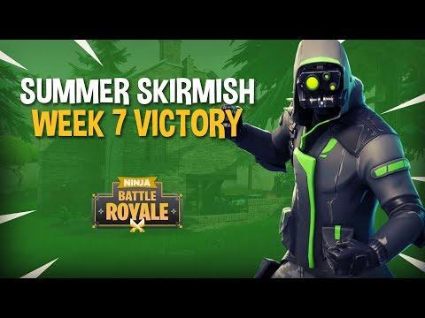 Summer Skirmish Week 7 Victory!! - Fortnite Tournament Gameplay - Ninja & Dr Lupo