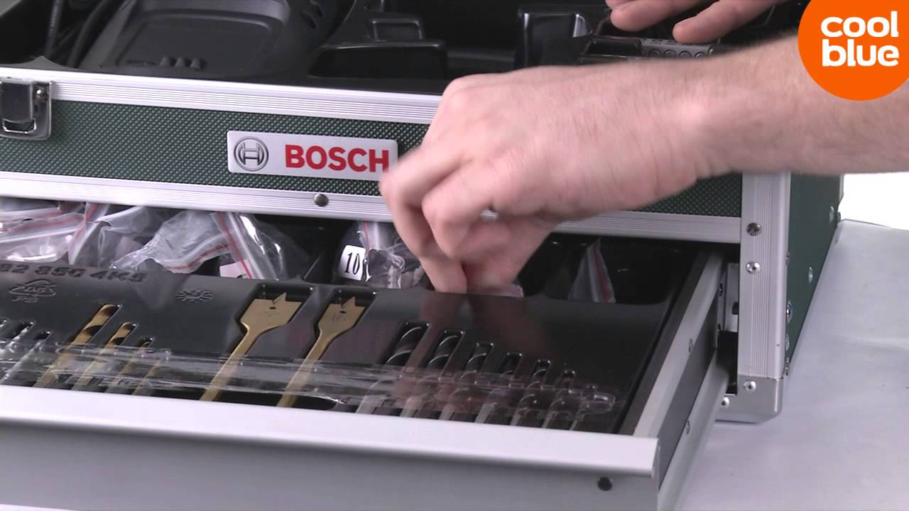 bosch psr 18 li 2 schroefboormachine 241 delige toolbox. Black Bedroom Furniture Sets. Home Design Ideas