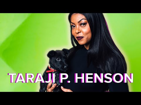 Taraji P. Henson Plays With Puppies While Answering  Questions