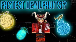 FASTEST DEVILFRUIT | STEVE'S ONE PIECE | Roblox | Devil Fruit Showcase