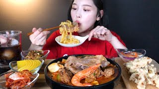 ENG SUB)Brisket Sefood Spicy Noodle & Sweet and Sour Beef Mukbang ASMR Korean Eating Show