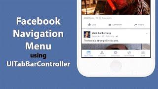 Swift: Create Facebook's Tab Menu system with UITabBarController