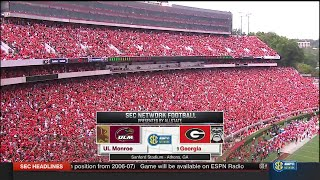 NCAAF  / Week 01 /  05.09.2015 /  Louisiana Monroe Warhawks @ (9) Georgia Bulldogs