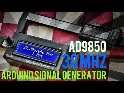 Arduino AD9850 30MHZ DDS Signal Generator In 12