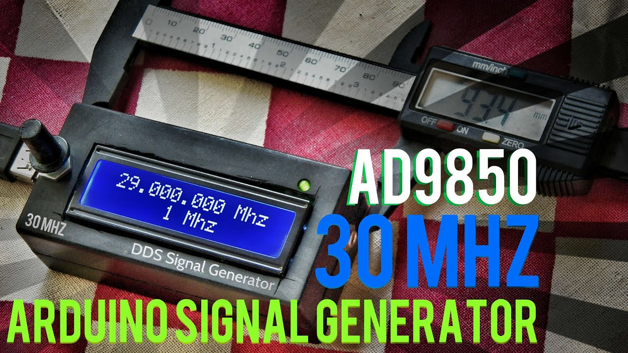 Dds Signal Generator 30mhz Arduino Code With Ad9850 Youtube