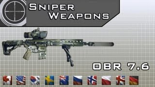 Medal Of Honor: Warfighter - All Weapons info List