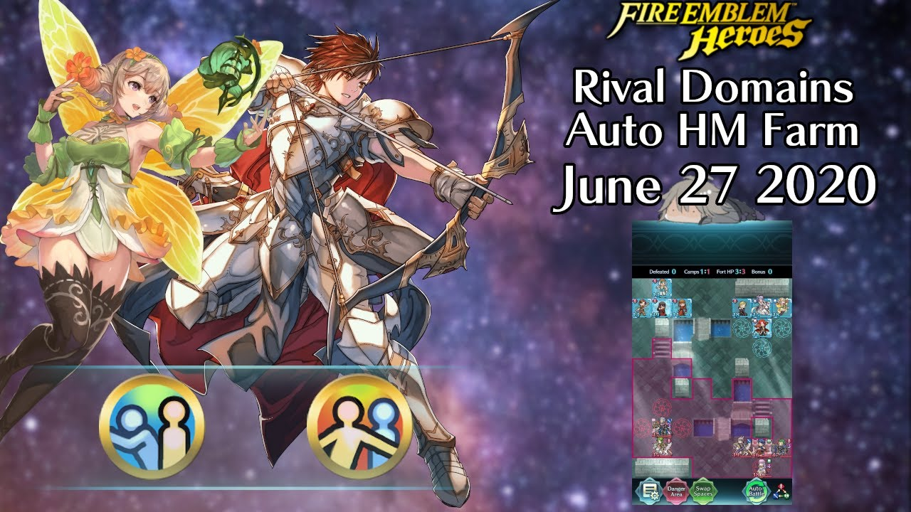 FEH - Rival Domains HM Farming - June 27 2020 [Lunatic] [3 Sol.] (F2P/GF - 2/1 Turns - 3/4 Units)