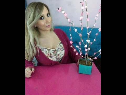 DIY Ikebana 🌸Paper Cherry Blossom Branches / Papier-Kirschblüten-Zweige /Цветок сакуры из бумаги 🍒🍒🍒