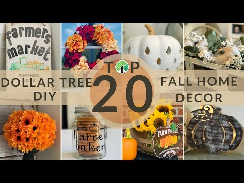 Top 20 Dollar Tree Diy Fall Farmhouse Decor Youtube