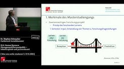 M.A. Human Resource Management / Personalpolitik: Interdisziplinär und praxisrelevant