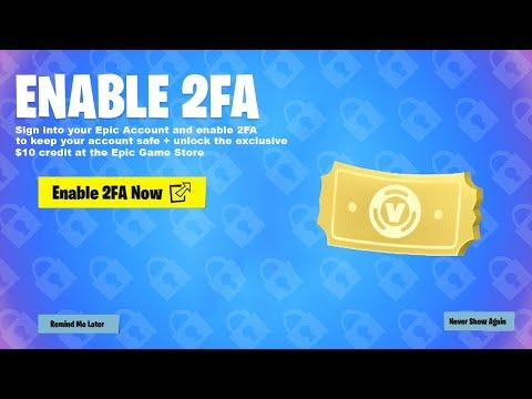 How to CLAIM 1,000 V-BUCKS for FREE in Fortnite! (2FA V-Bucks)