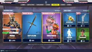 FORTNITE ITEM SHOP NEW SKINS/EMOTES 8/23/2018