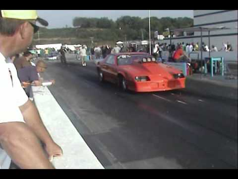 Blown Orange Camaro 2 At Shelor Motor Mile Dragway Youtube