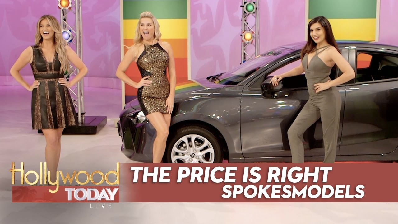 Amber Lancaster From The Price Is Right behind the scenes exclusive with the models of 'the price is right'