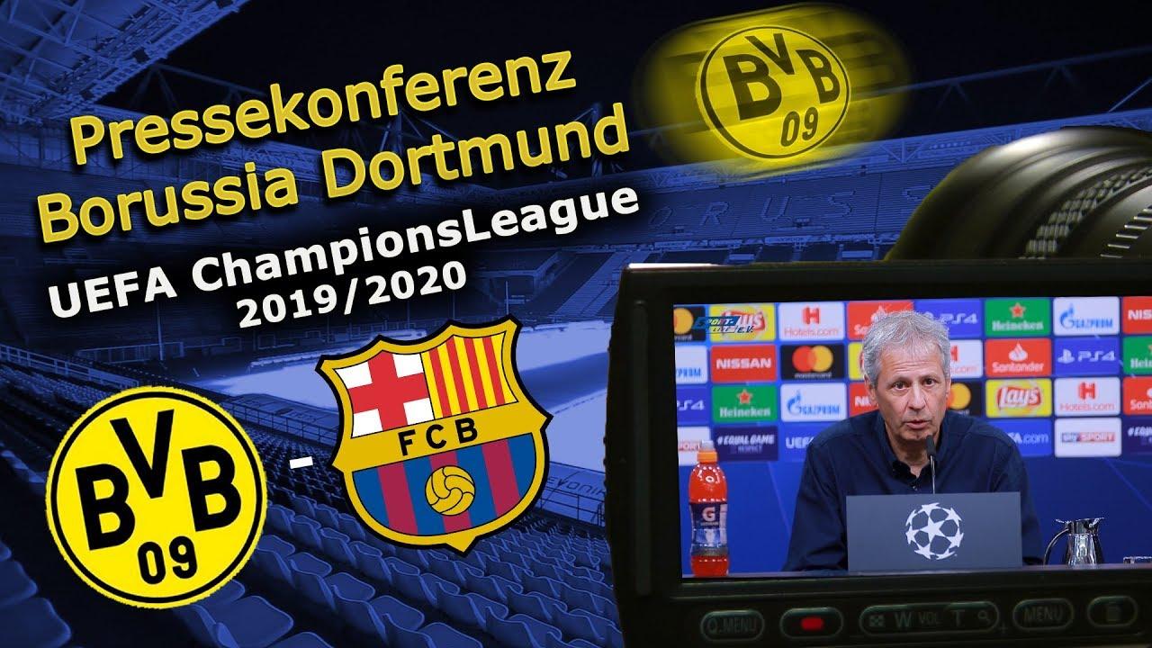 Borussia Dortmund - FC Barcelona: Pressekonferenz mit Lucien Favre und Marco Reus
