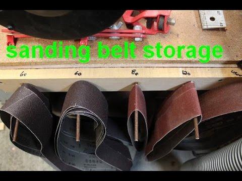 Sanding Belt Storage Rack For A Belt Grinder.