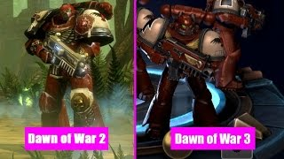 Dawn Of War 2 Units vs Dawn Of War 3 Visual Comparison