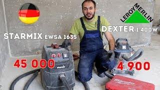 Starmix 1635 и dexter 1400 из Леруа. Обзор строительных пылесосов. Мелкая пыль