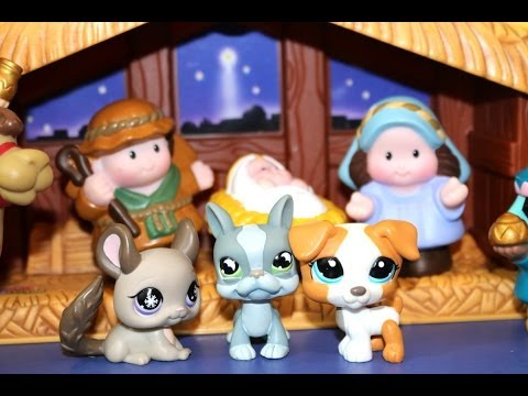 Littlest Pet Shop Christmas With Little People Nativity