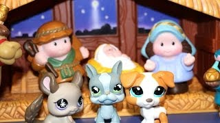 Littlest Pet Shop Christmas with Fisher Price Little People Nativity popular