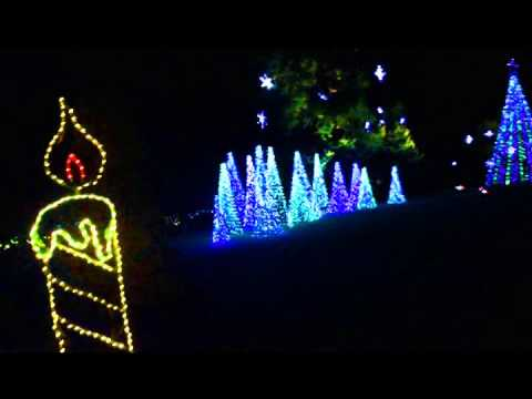 Christmas Lights in the Bellingrath Gardens 2014 with the music of