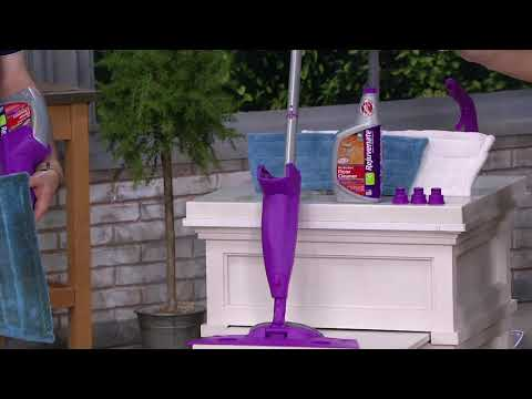 Rejuvenate Click N Clean Multi-Surface Spray Mop with Floor Cleaner on QVC