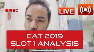 CAT 2019 Slot 1 Analysis by CAT Topper
