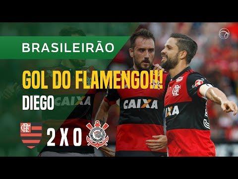 GOL (DIEGO) - FLAMENGO X CORINTHIANS - 19/11 - BRASILEIRÃO 2017