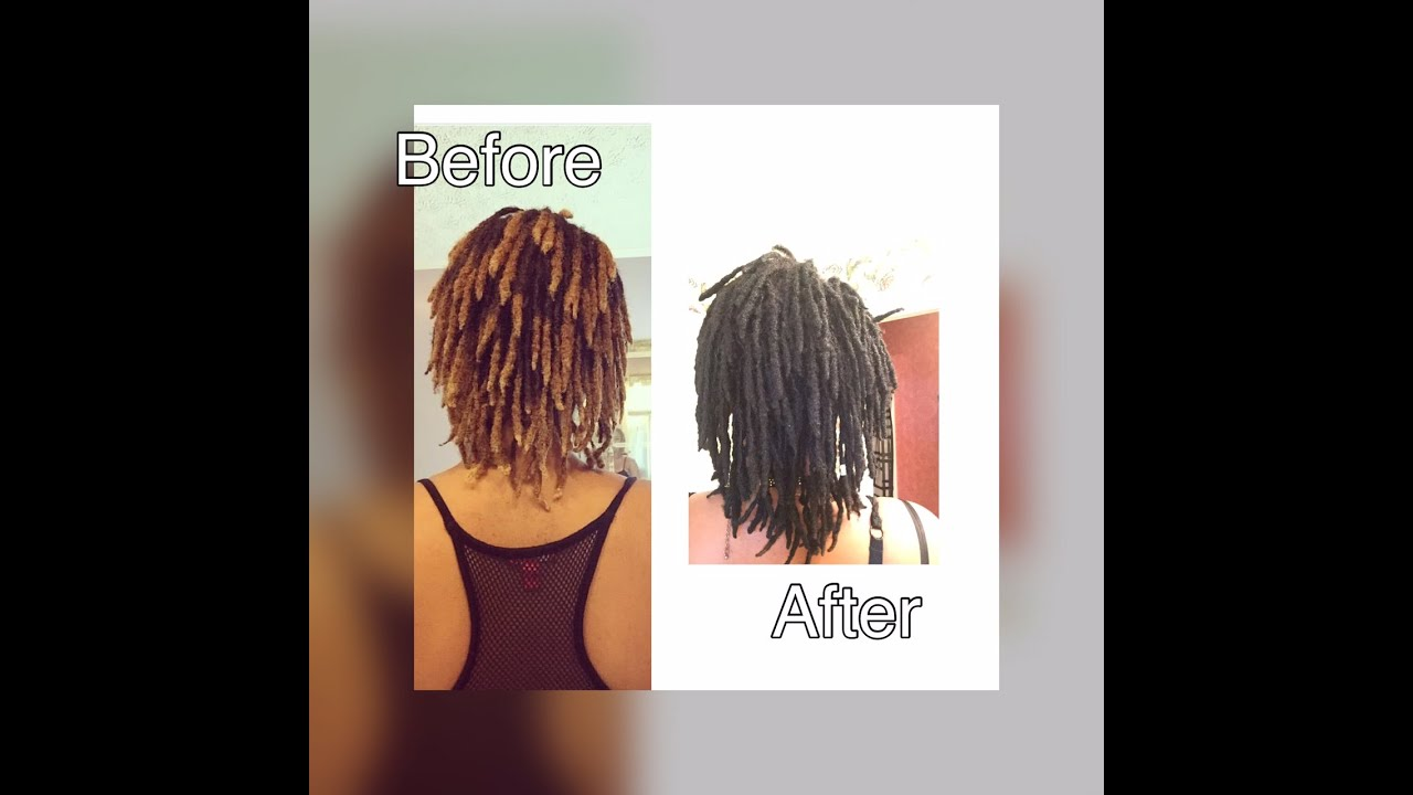 Natural Black Hair Dye For Dreadlocks Youtube