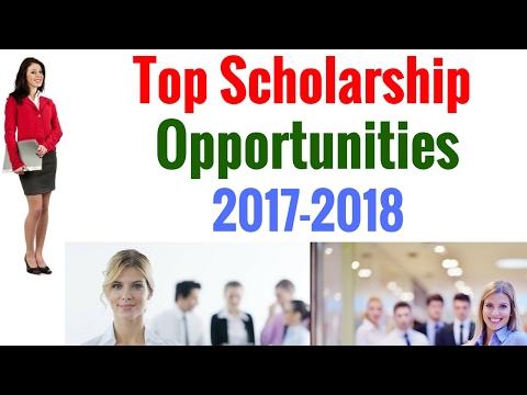 Top Scholarship Opportunities 2017-2018